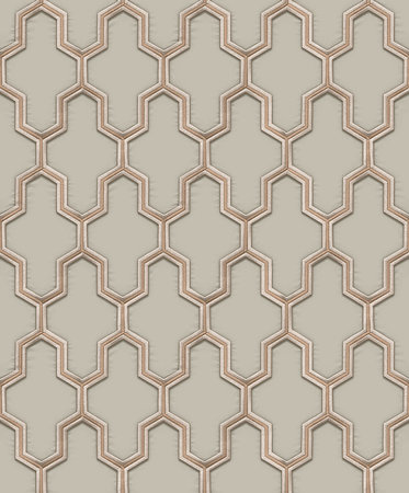 Dutch Wallcoverings Wall Fabric geometric green  WF121023