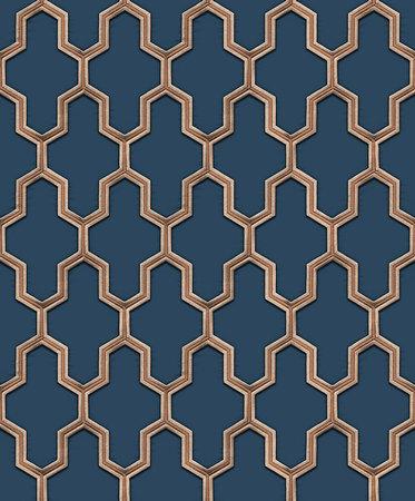 Dutch Wallcoverings Wall Fabric geometric blue  WF121027