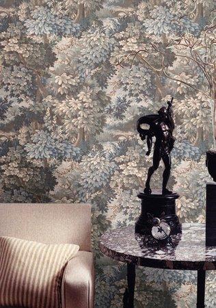Gobelin de Louis-Phillipe de France  zwaar luxe italiaanse relief vinyl   oogt als stof  70cm brede rollen  zwaar luxe italiaanse relief vinyl   oogt als stof  70cm brede rollen