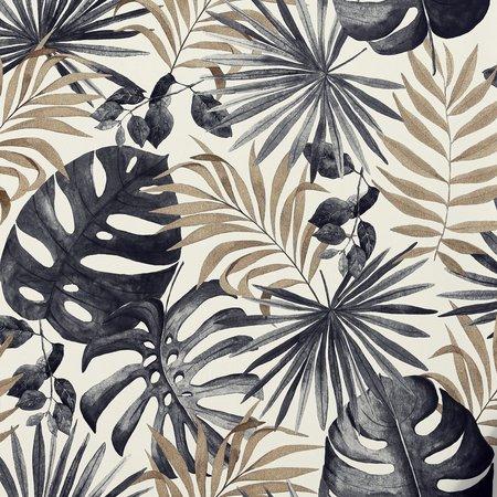 Arthouse Jungle Wall Black & Gold 297105