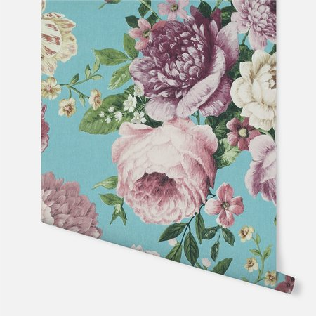 Arthouse Tapestry Floral Teal/Pink 297304