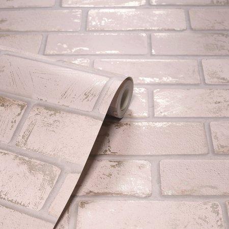 Arthouse Metallic Brick Pink/Rose Gold 692203