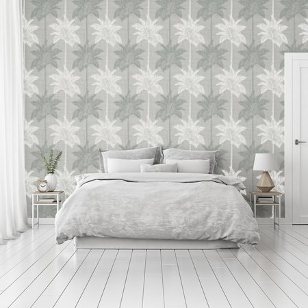 Arthouse Palm Luxe Grey & Duck Egg 907608