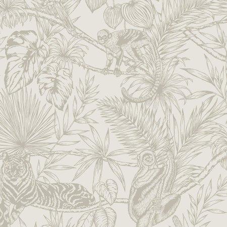 Sumatraanse behang wit / zilver Holden 65763
