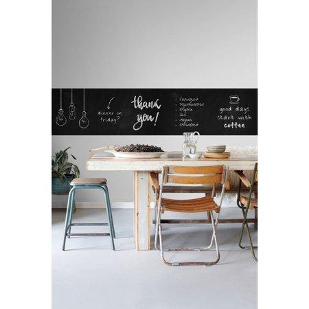 Esta Home Krijtbord Magneet Behang Zwart 155002 (5,6M)
