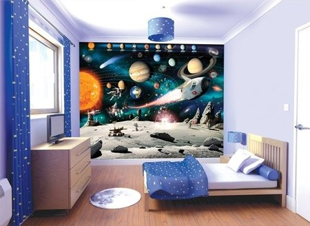 Walltastic 3D Ruimte/Space City 41837