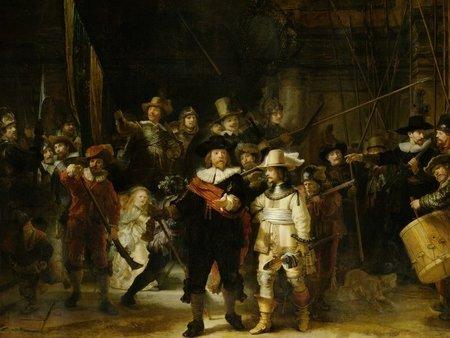 Fotobehang 30587 Nachtwacht Rembrandt van Rijn