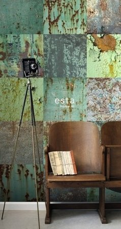 Esta Home Vintage Rules! WallpaperXXL Metalen platen 158203