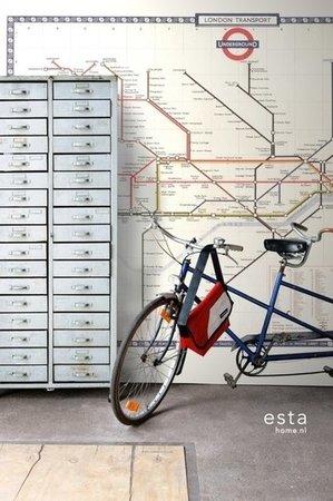 Esta Home Vintage Rules! PhotowallXL Metrokaart Londen multi 158209