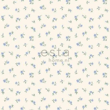 Esta Home Denim & Co. little roses soft blue 137703