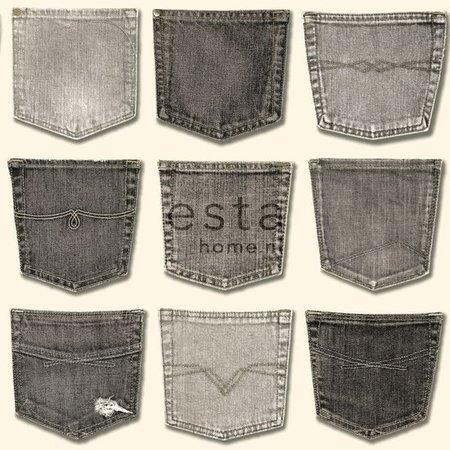 Esta Home Denim & Co. jeans pocket grey 137740