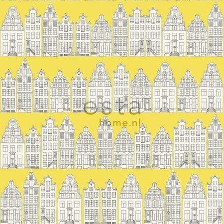 Esta Home Denim & Co. Amsterdam houses yellow 137712