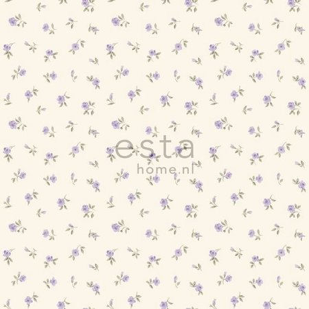 Esta Home Denim & Co. little roses purple 137702