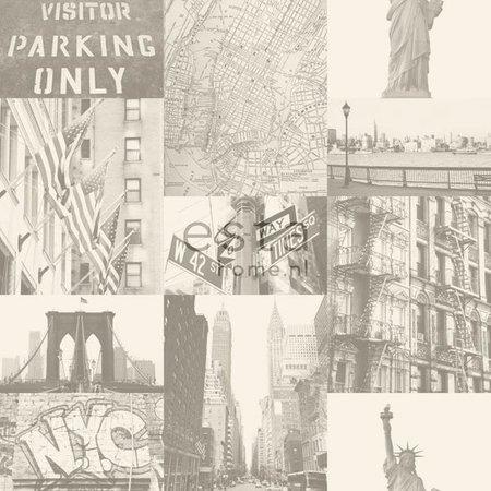 Esta Home Denim & Co. street view New York beige 137719
