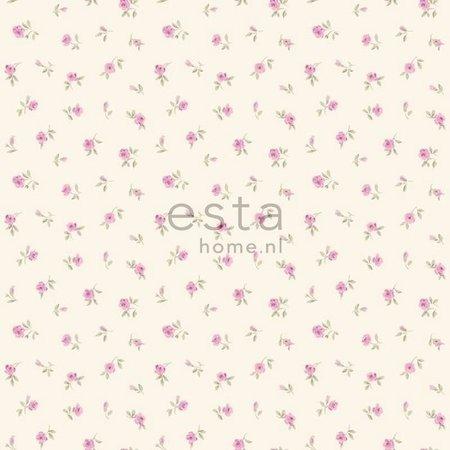Esta Home Denim & Co. little roses purple 137701