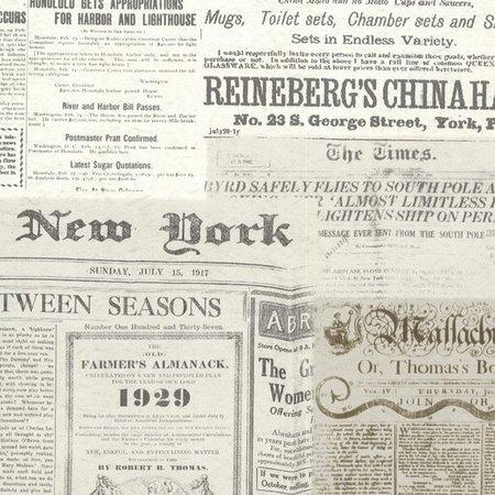 Dutch Oxford behang 2604-21267 Vintage Newsprint