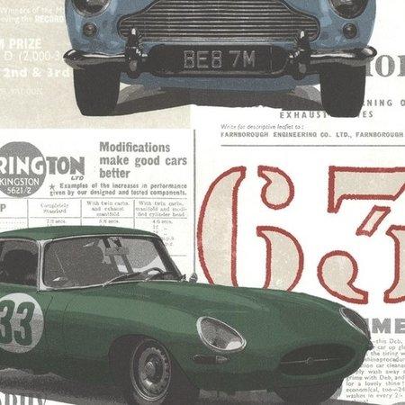 Dutch Oxford behang 2604-21262 Road Trip Antique Cars