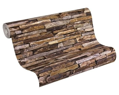 AS Creation Wood´n Stone 9142-17 Steenstructuur behang