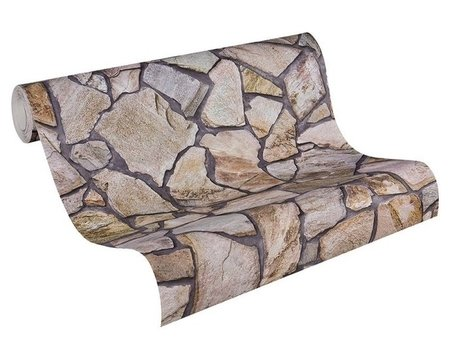AS Creation Wood´n Stone 9273-16 Steenstructuur behang