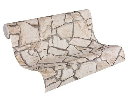 AS Creation Wood´n Stone 9273-23 Steenstructuur behang