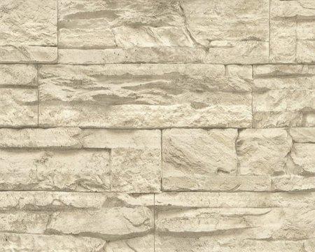 AS Creation Wood´n Stone 7071-30 Steenstructuur behang