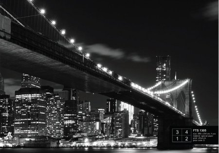 AG Design Fotobehang Brooklyn Bridge FTS1305