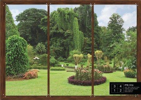 AG Design Fotobehang Uitzicht op Tuin FTS1314