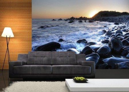 AG Design Fotobehang Zonsondergang bij Zee FTS1311