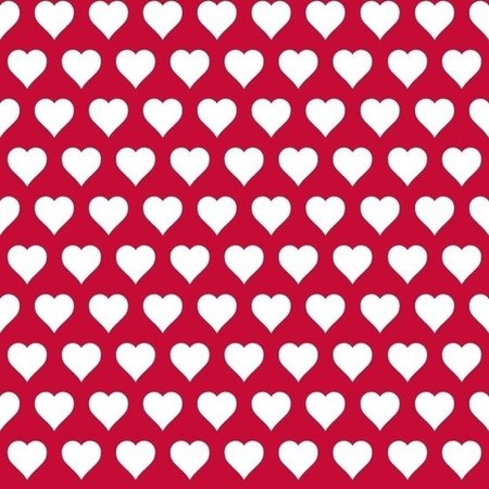 Esta Love 136813 Hearts red & white
