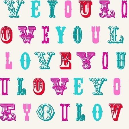 Esta Love 136832 Love turquoise & pink
