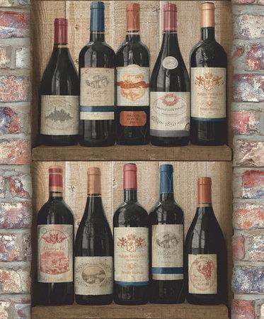 Dutch Exposed Warehouse behang wijnflessen EW3901