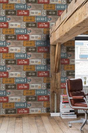 Dutch Exposed Warehouse behang EW3601 nummerborden