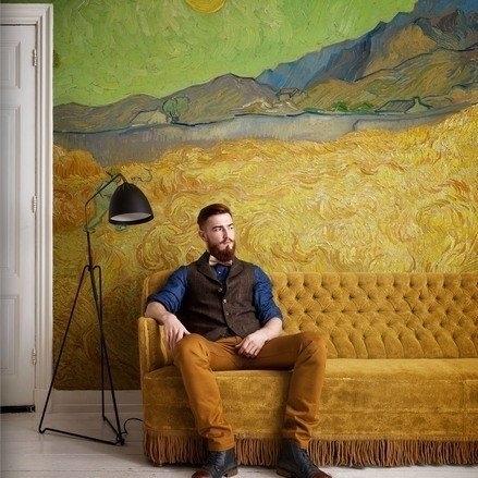 fotobehang BN Wallcoverings Van Gogh 30544 Korenveld met maaier