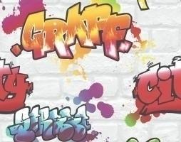 Graffiti behang 272901