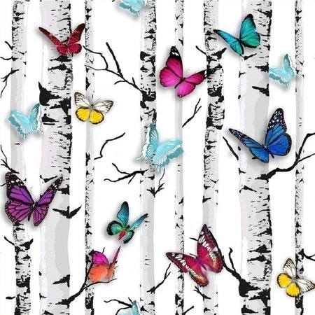 Dutch Jet Setter behang 102529 Garden Butterfly