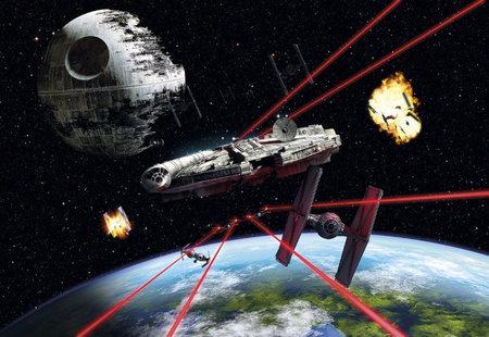 Fotobehang Starwars Millenium Falcon