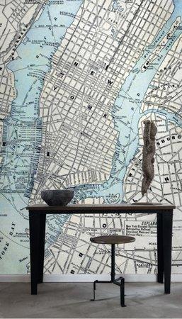 Esta Photowall XL 157702 Old street map New York