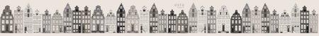 Esta Photowall XL 157714 Amsterdam houses grey