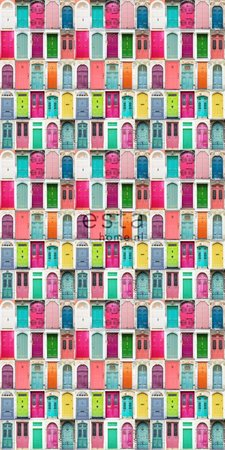 colourful doors wallpaper XXL 158607