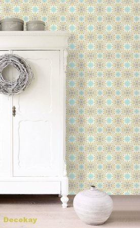 folk embroidery wallpaper XXL 158605