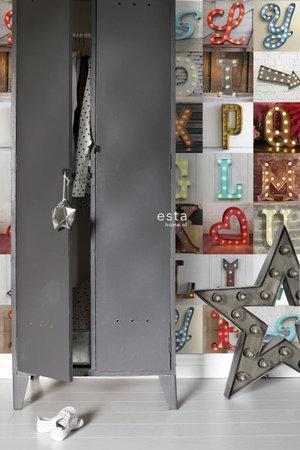 Esta #FAB Light letters vlies wallpaper XXL 158816
