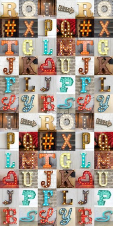 Esta #FAB Light letters vlies wallpaper XXL 158816