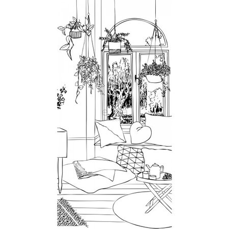 Esta #FAB Livingroom cosy corner vlies photowallXL 158814