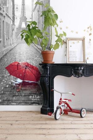 Esta #FAB Red umbrella vlies photowallXL 158811