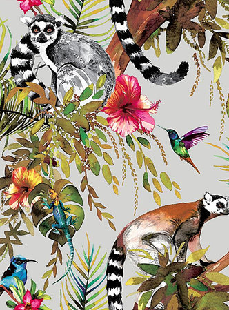 Dutch Wallcoverings Imaginarium Lemur 12401