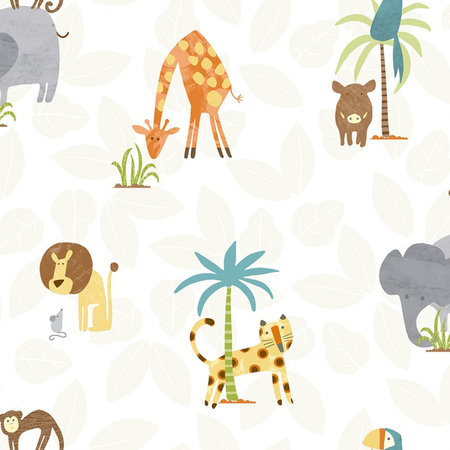 Dutch Wallcoverings Make Believe Jungle Friends 12541