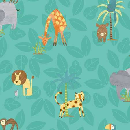 Dutch Wallcoverings Make Believe Jungle Friends 12542