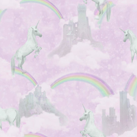 Dutch Wallcoverings Make Believe Unicorns 12480