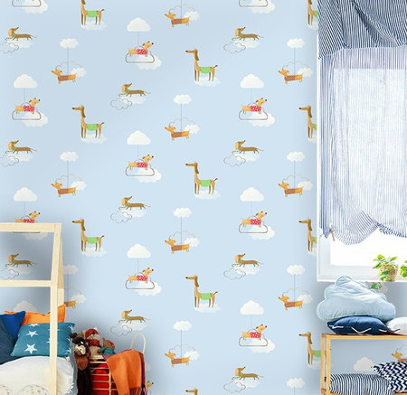Dutch Wallcoverings Make Believe Walkies 12550