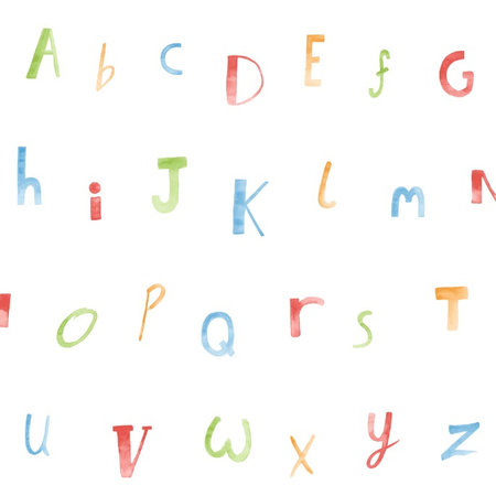 Dutch Wallcoverings Make Believe Alphabet 12560